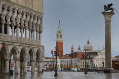 St. Mark's Square in Winter Stock Photography