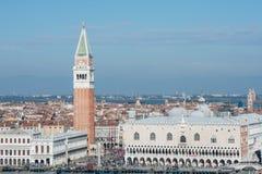 St mark square from above venice veneto italy europe Stock Photography
