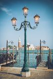 St. Mark square and lamps, Venice, Italy Stock Image