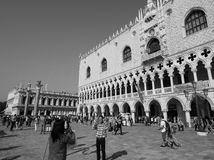 St Mark square in Venice in black and white Royalty Free Stock Photo