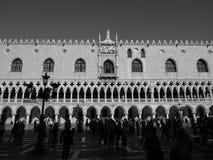 St Mark square in Venice in black and white Stock Photo