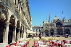 St Mark square view Venice Italy Royalty Free Stock Images