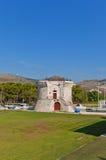 St Mark torn (XV c ), croatia trogir Lång exponering Arkivbilder