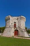 St Mark torn (XV c ), croatia trogir Lång exponering Royaltyfri Fotografi