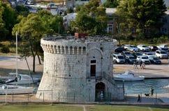 St Mark Tower, Trogir Arkivbild