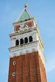 St Mark's Square and the famous tower, Venice, Italy Royalty Free Stock Photo