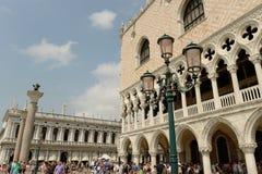 St, markiert Quadrat, Venedig, Italien Stockfotos
