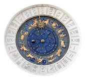 St Marks Astronomical Clock Isolated Royalty Free Stock Photo