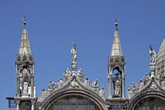 St Marks Basilica, facade detail, Venice, Veneto Stock Photo