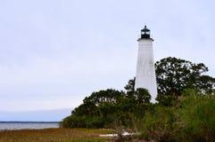 St. Marks Lighthouse. Within the National Wildlife Refuge Royalty Free Stock Photos