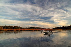 St. Marks River Boaters Stock Photos