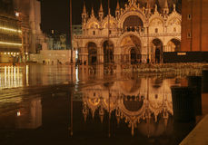 St Marks Square in Aqua Alta Stock Image