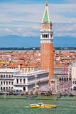 St Marks Square and Campanile on a beautiful summer day in Venice Royalty Free Stock Images