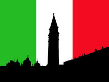 St Marks Square with flag Stock Photos