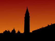 St Marks Square at sunrise Royalty Free Stock Photos