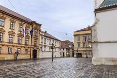 St Marks Square in Zagreb,Croatia Royalty Free Stock Photo