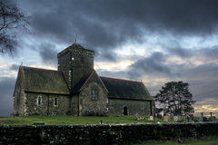 St Martha's Church On St Martha's Hill at sunset Royalty Free Stock Photography