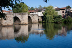 St. Martial мост в Лиможе Стоковые Изображения RF