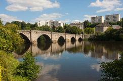 St. Martial Bridge in Limoges. View on the St. Martial Bridge in Limgoes, France Stock Photo