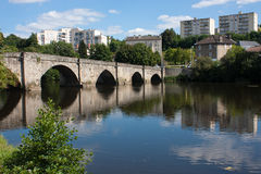 St. Martial's bridge in Limoges Stock Photography