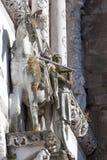St Martin разделяя его пальто в 2 части Стоковая Фотография