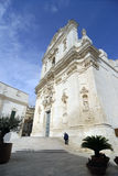 St. Martin. Beautiful Baroque Style facade of the Basilica of St. Martin in Martinafranca Stock Photography