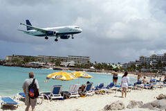 St. Martin Airport Lizenzfreies Stockfoto