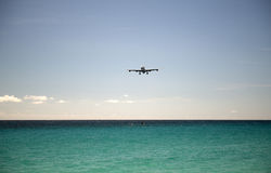 St Martin Airport, des Caraïbes Photographie stock