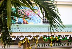 Art Gallery in St Martin royalty free stock photography