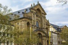 St Martin Bamberg de la iglesia católica Foto de archivo libre de regalías