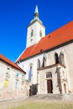 St. Martin Cathedral, Bratislava. The St. Martin Cathedral is a roman catholic church in Bratislava, Slovakia. St Martin Cathedral is the largest and one of the royalty free stock images
