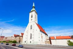 St. Martin Cathedral, Bratislava. The St. Martin Cathedral is a roman catholic church in Bratislava, Slovakia. St Martin Cathedral is the largest and one of the stock photo
