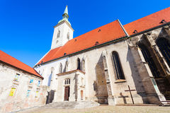 St. Martin Cathedral, Bratislava. The St. Martin Cathedral is a roman catholic church in Bratislava, Slovakia. St Martin Cathedral is the largest and one of the royalty free stock photo