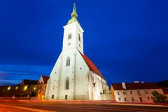 St. Martin Cathedral, Bratislava. The St. Martin Cathedral is a roman catholic church in Bratislava, Slovakia at sunset. St Martin Cathedral is the largest and stock photography