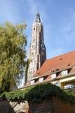 St. Martin Church en Landshut Foto de archivo