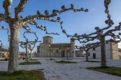 St Martin Church, i romansk stil i Fromista, Palencia arkivbild