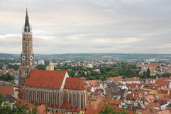 St Martin church and Landshut Royalty Free Stock Images