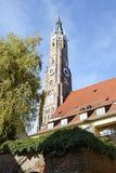 St. Martin Church in Landshut Stock Photo