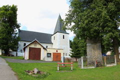 St Martin Church, República Checa de Nicov fotografía de archivo libre de regalías