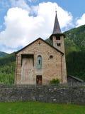 St. Martin church in Zillis in Switzerland Stock Photos