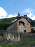 St. Martin church in Zillis in Switzerland Royalty Free Stock Photography