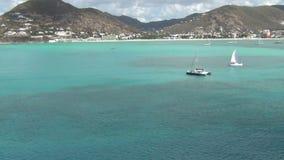 St Martin in den Karibischen Meeren stock video