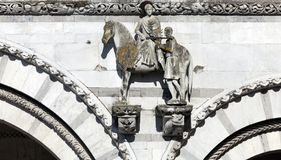 St. Martin dividing his coat into two parts Royalty Free Stock Photography