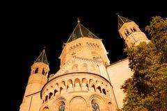 St Martin Dom Mainz, Allemagne, façade est de cathédrale images stock
