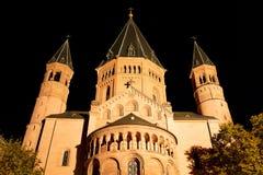 St Martin Dom Mainz, Allemagne, façade est de cathédrale image stock