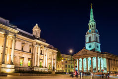 St Martin-in-the-Fields church on Trafalgar Square. London Royalty Free Stock Photo