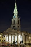 St Martin in the Fields, London, England, at night Stock Image
