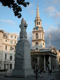 St Martin-in-the-Fields, London. St Martin-in-the-Fields, Trafalgar Square, UK, 2005 royalty free stock image