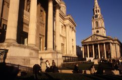 St Martin-in-the-Fields & The National Gallery Royalty Free Stock Image