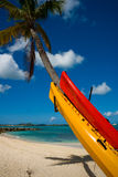 St Martin, French West Indies. Idyllic beach on the French side of the caribbean island of St Martin Royalty Free Stock Photos